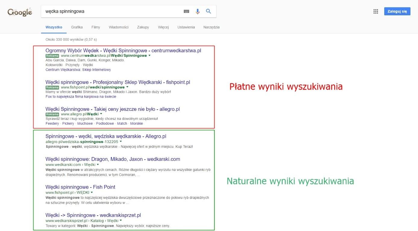 google-wyniki-wyszukiwania
