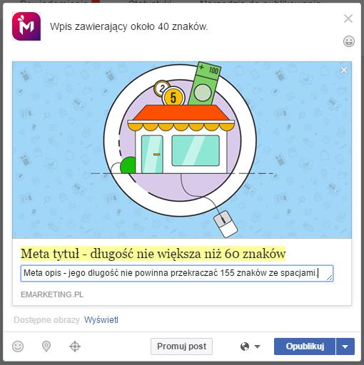 długość postów na Facebooku