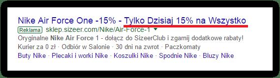 skuteczna reklama adwords limitowana oferta