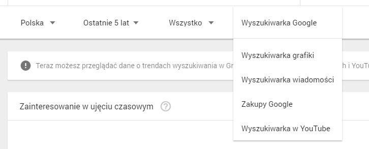 google trends- nowe funkcje
